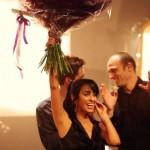 rita holding up flowers
